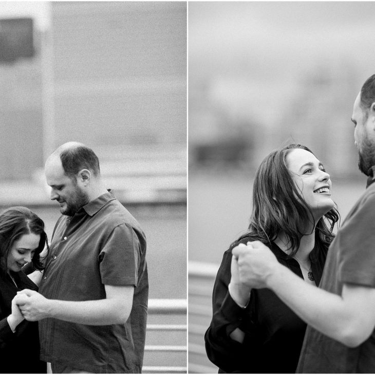 Gantry State Park Stormy Engagement Session // Melissa & Kent