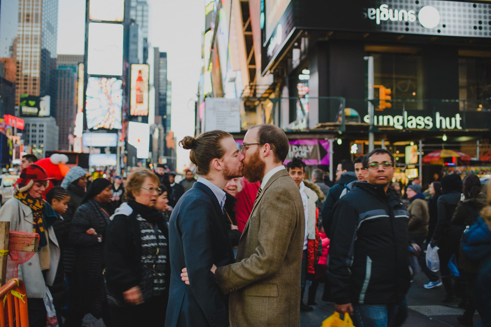 Time Square, Couples Shoot, NYC