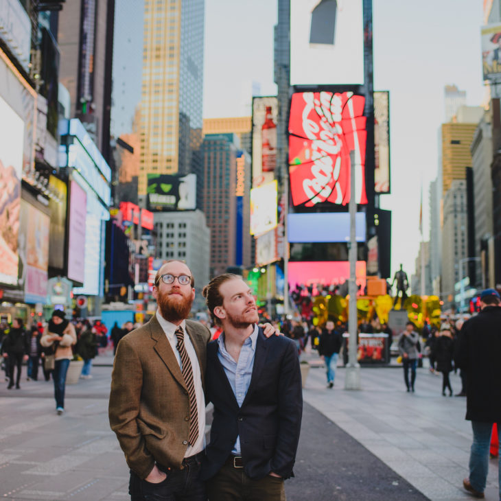 Times Square Couples Session // Chris & Alex